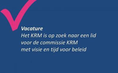Lid voor de Commissie KRM gezocht